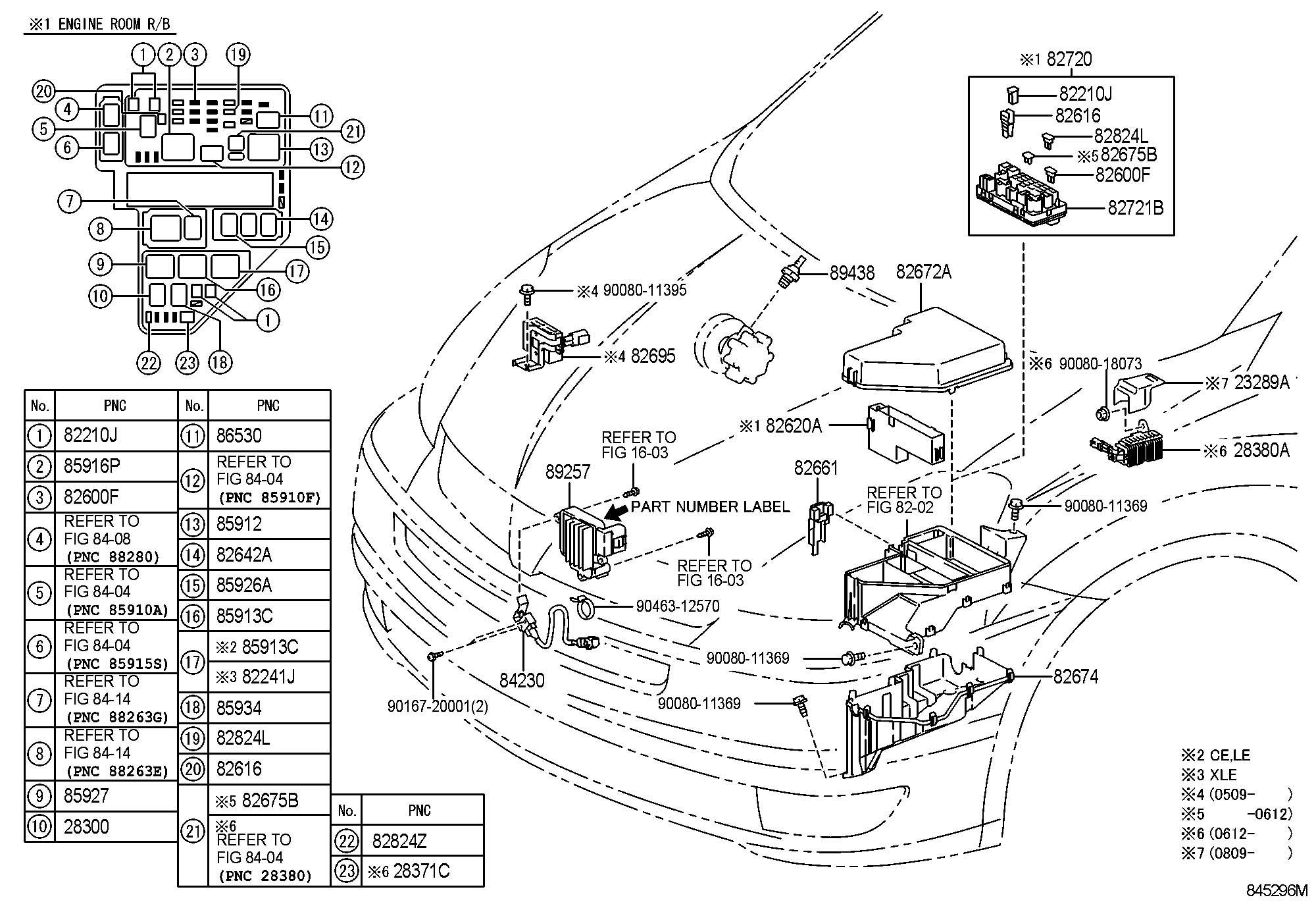 2006 Toyota Sienna Fuse, fuse block; fuse, medium current