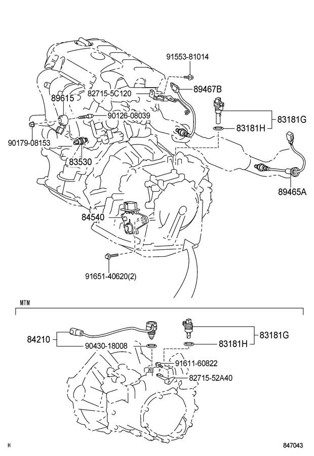 Toyota Yaris Switch assembly, neutral start. Switch