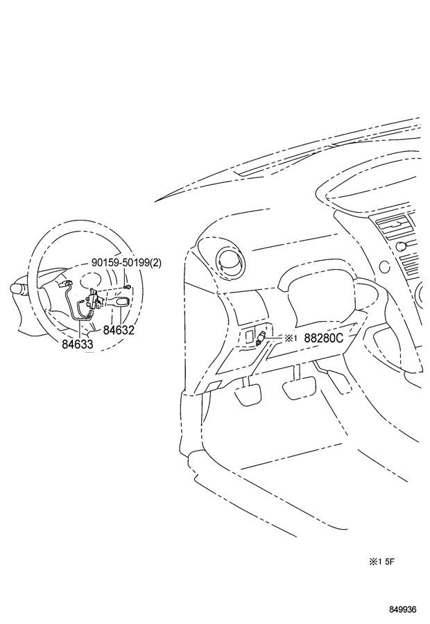 Toyota Yaris Switch assembly, clutch; switch assembly