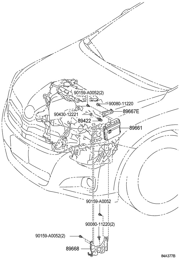 Toyota Venza Computer, engine control. Computer, engine