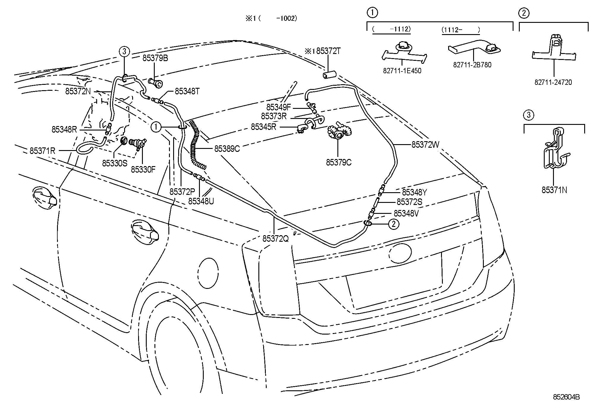 2013 Toyota Prius Nozzle, rear washer. Nozzle; rear window