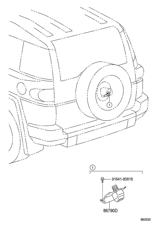 2010 Toyota FJ Cruiser Camera assembly, television, rear