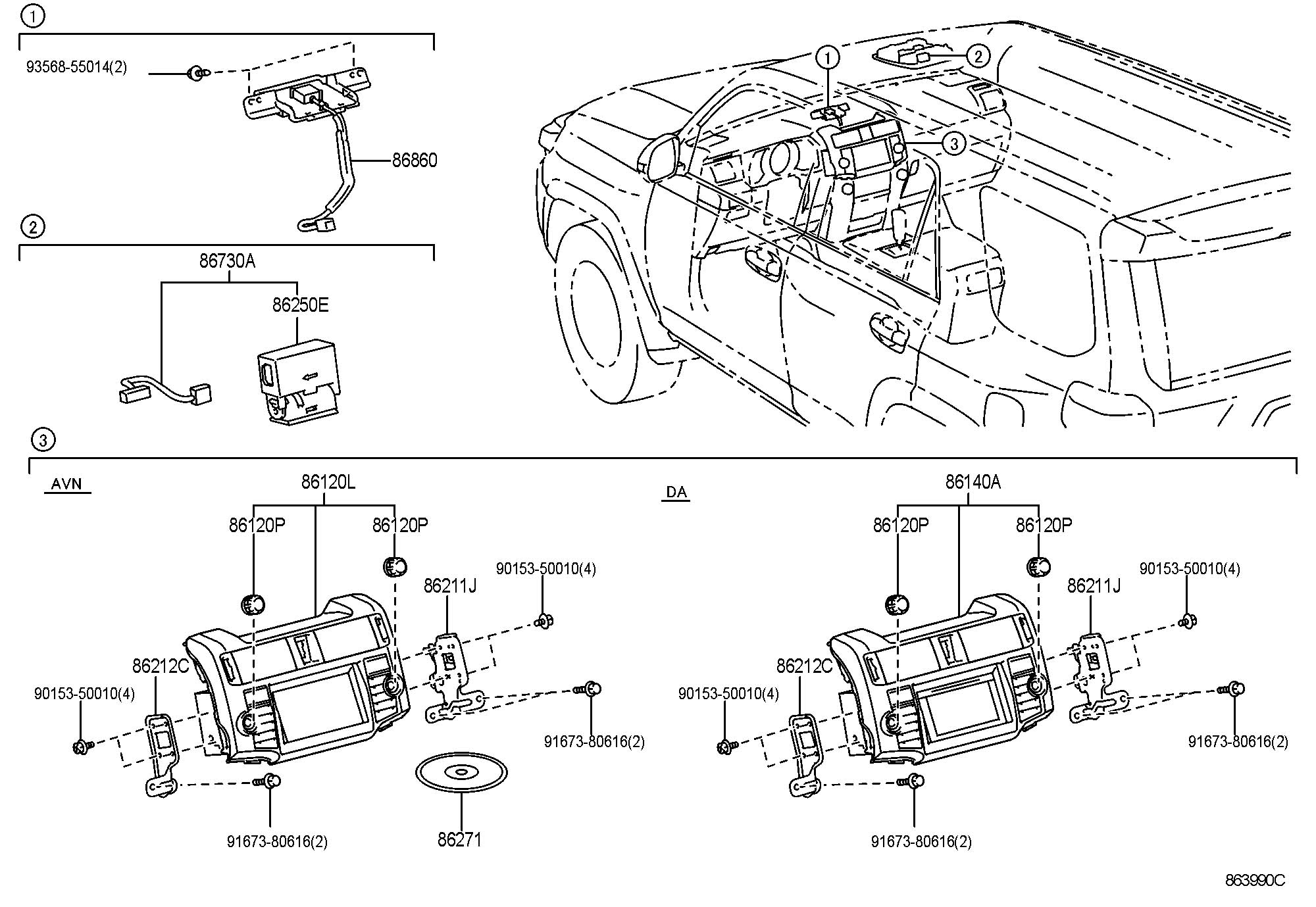Toyota 4runner Receiver Assembly Navigation Receiver