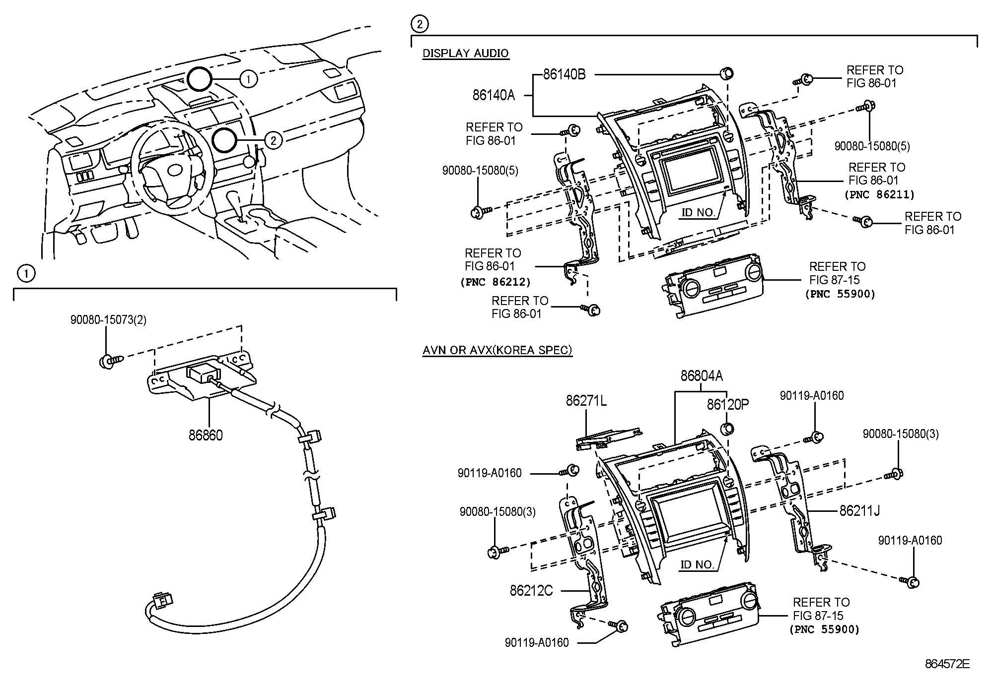 Toyota Camry Antenna Assembly Navigation Audio Jbl