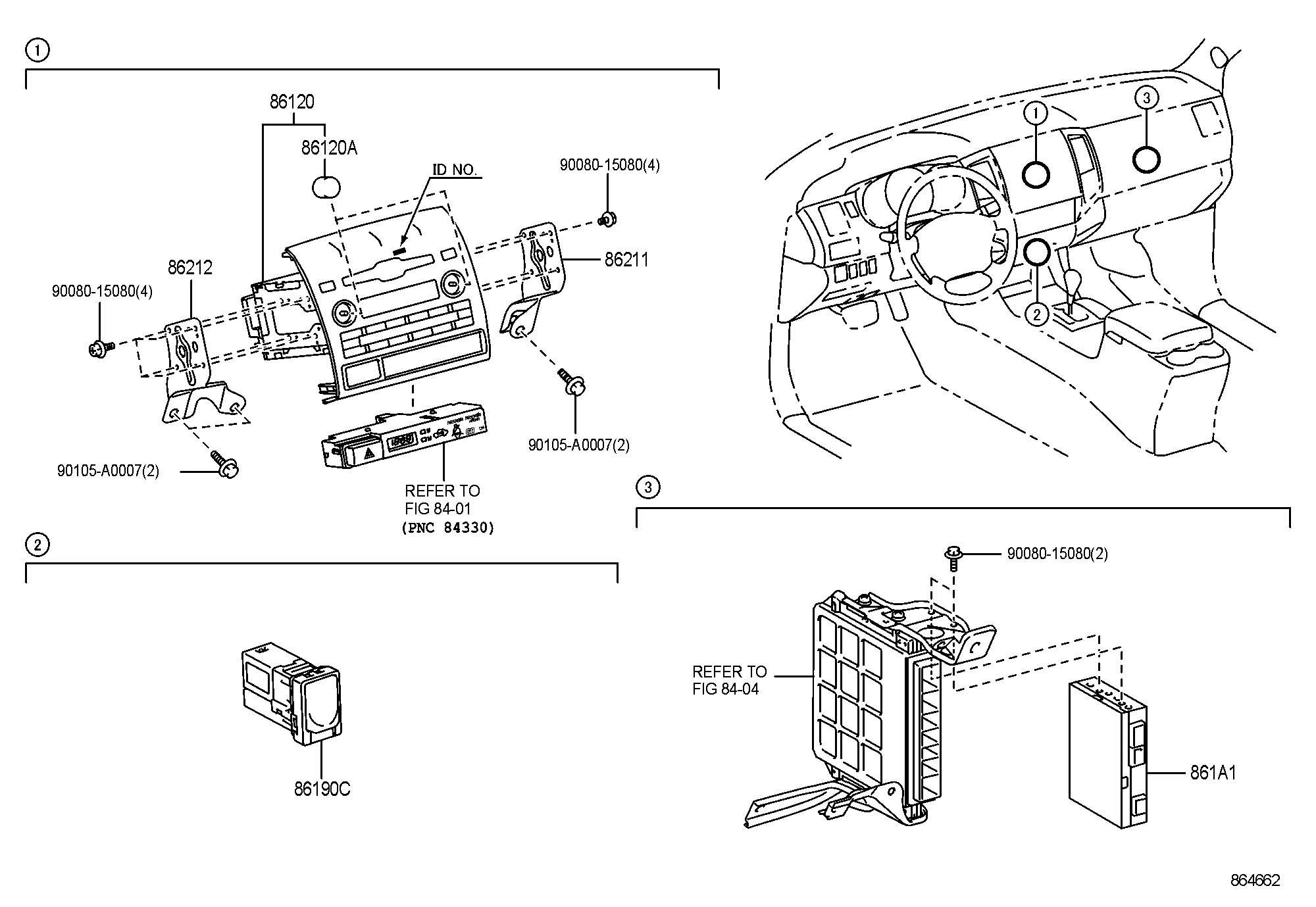 2011 Toyota Tacoma Adapter assembly, stereo jack, no.1