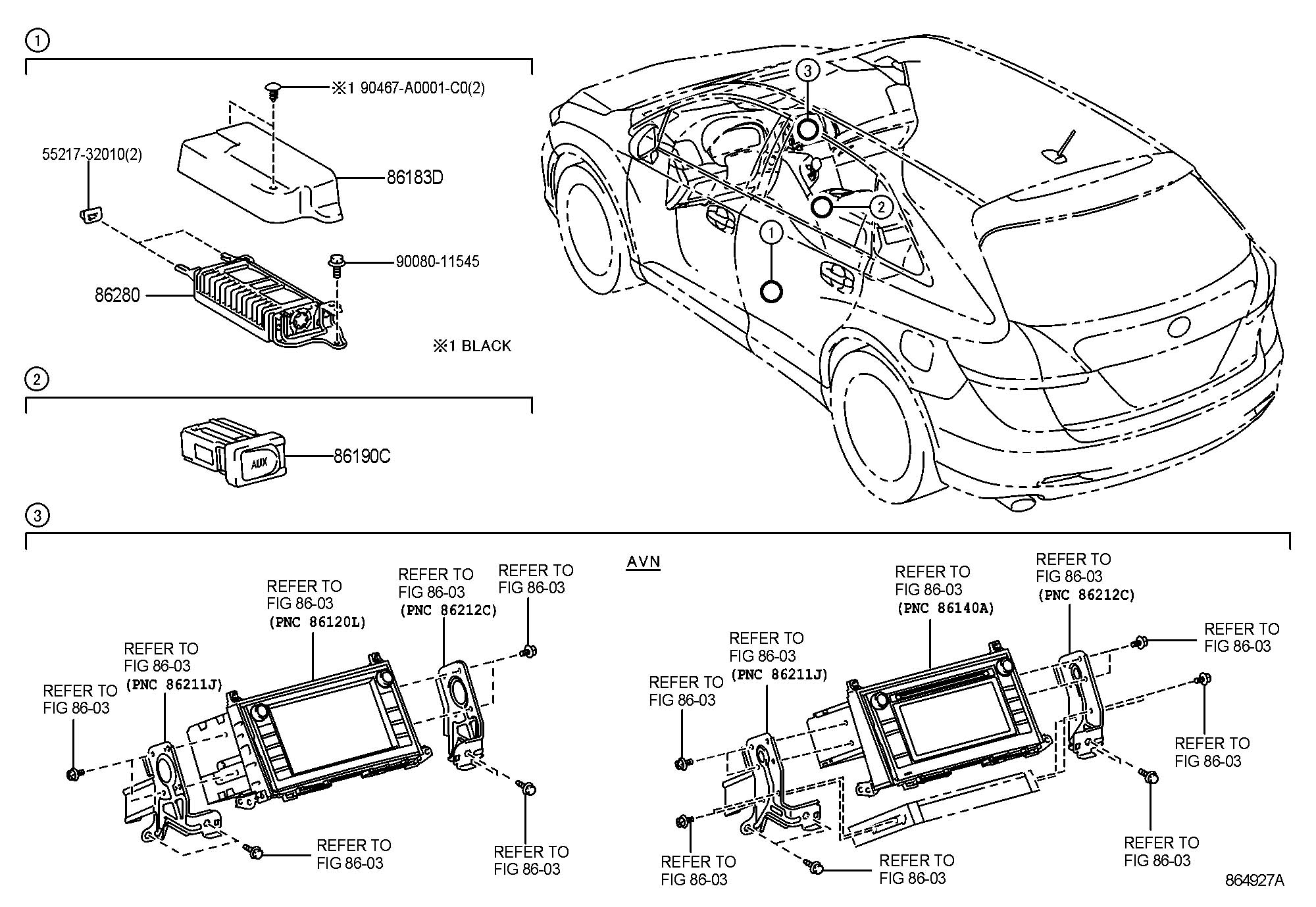Toyota Venza Adapter assembly, stereo jack, no.1. Adapter