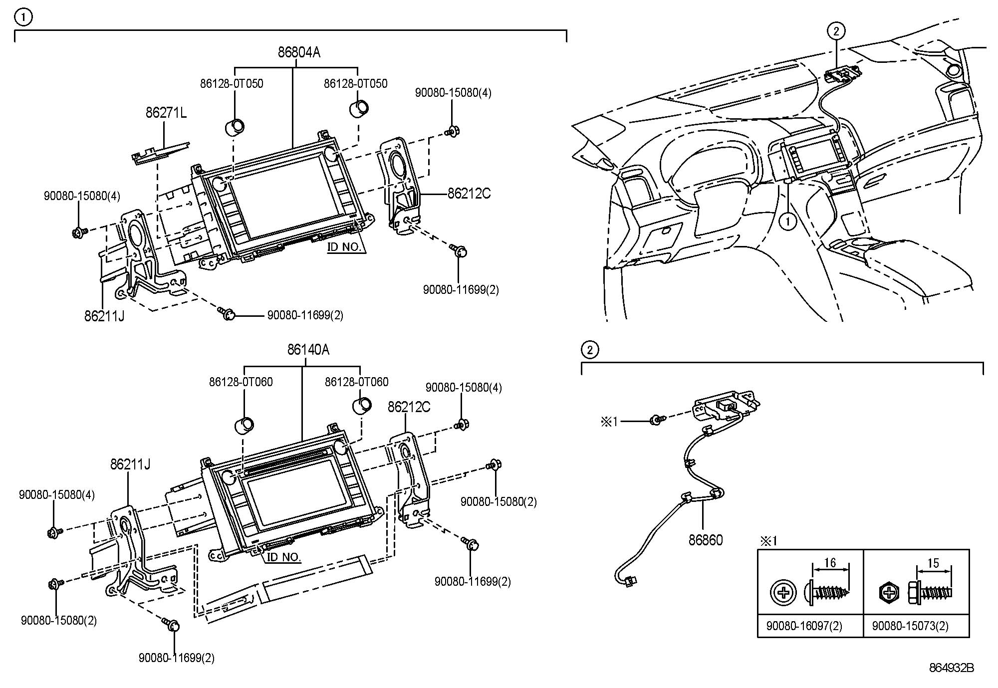 Toyota Venza Receiver assembly, radio & display. Receiver