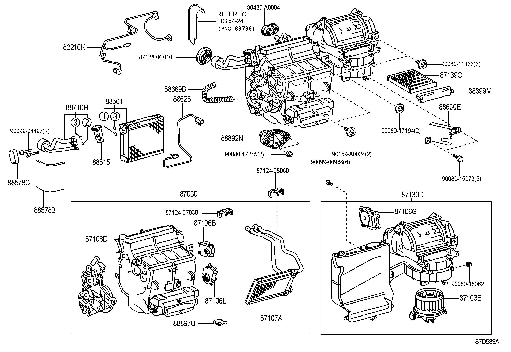 Toyota Tundra LIMITED Motor sub-assembly, blower with fan