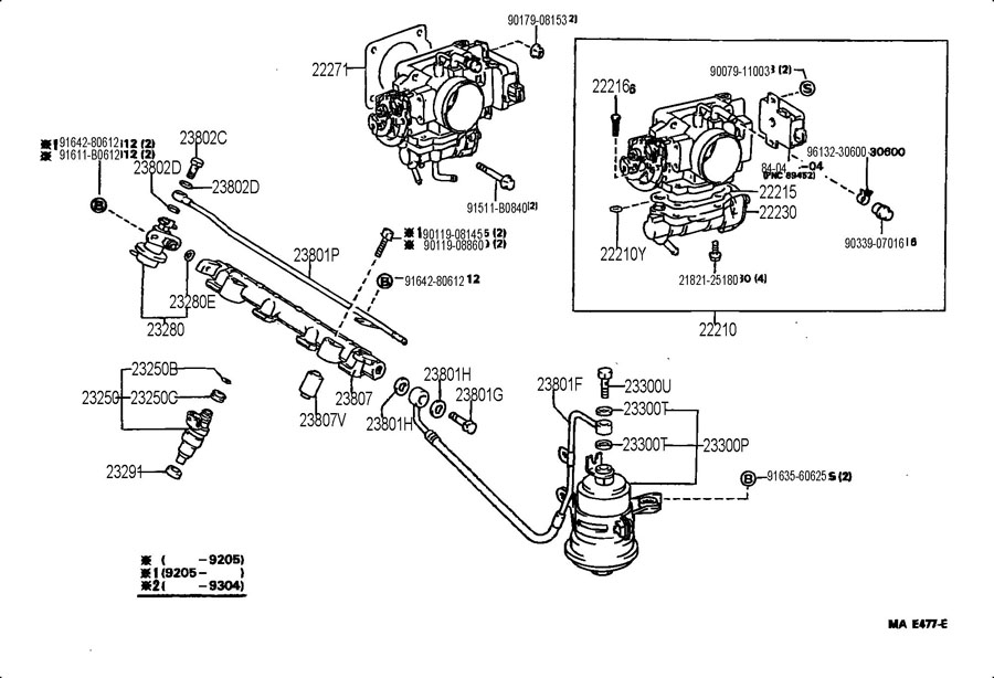 1995 Toyota Paseo Regulator assembly, fuel pressure