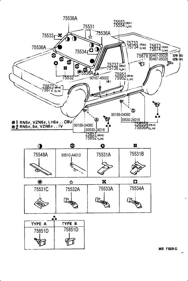 1986 Toyota 4Runner VAN, DLX 2400CC EFI, MANUAL, 5-SPEED
