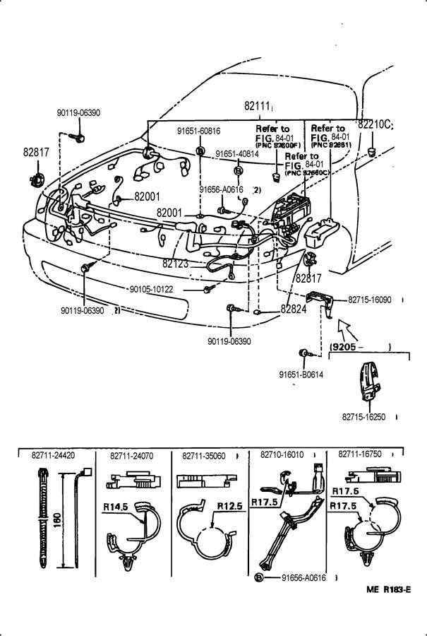Toyota Tercel Engine room fusible link; fusible link. Link