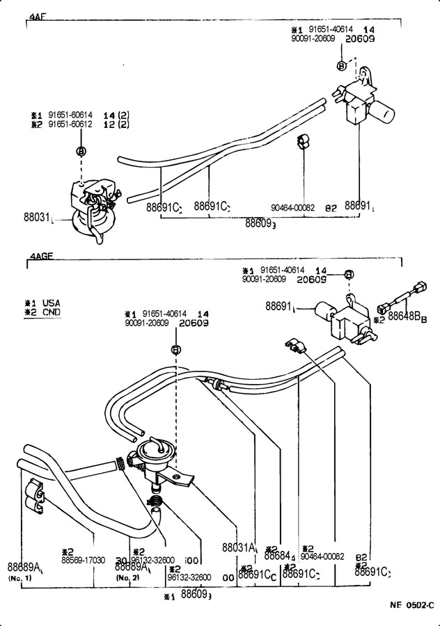 Toyota Corolla Actuator set, idle-up. Air, heating