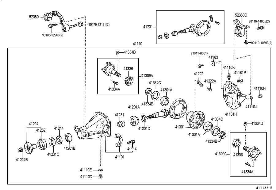 Toyota rav4 rear differential seals