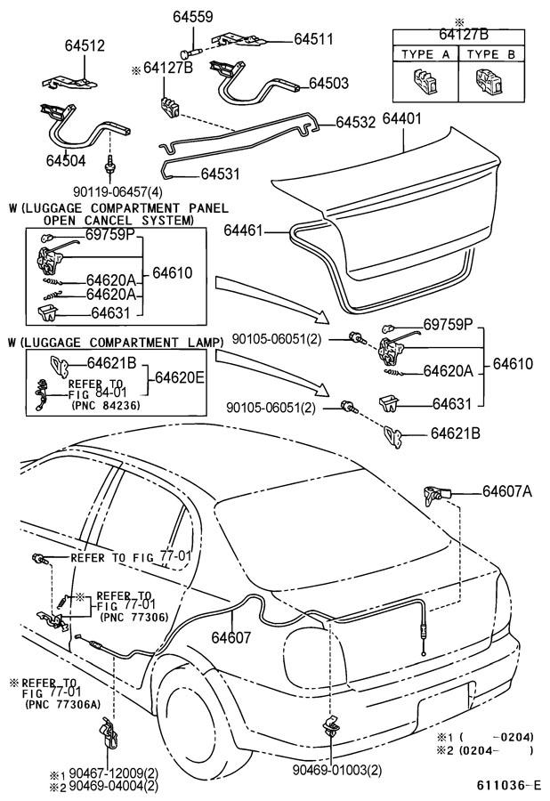 Toyota echo door lock assembly