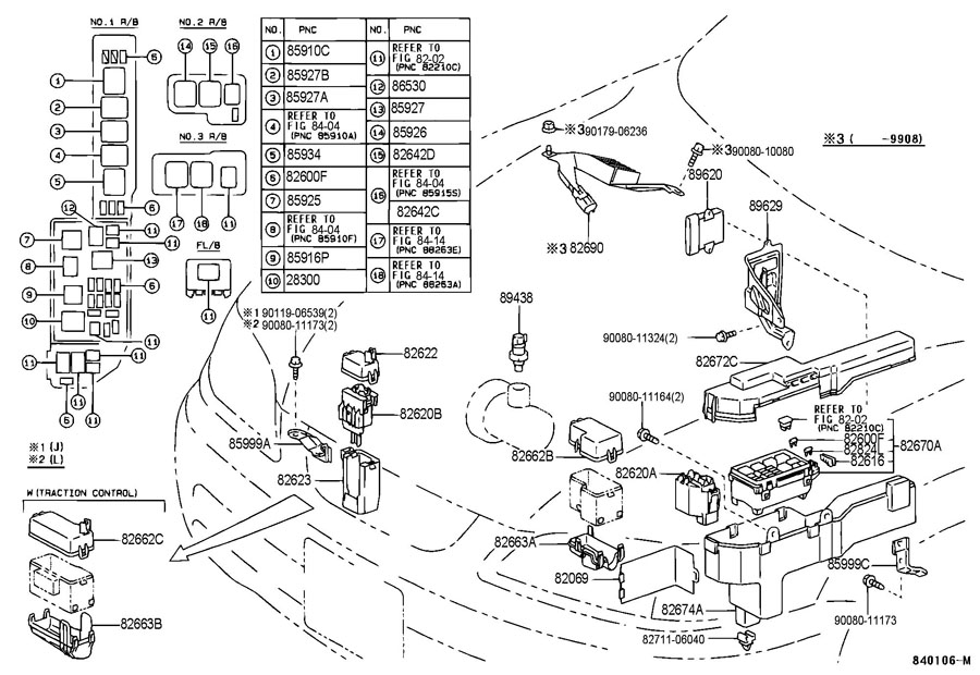 Power main relay toyota camry
