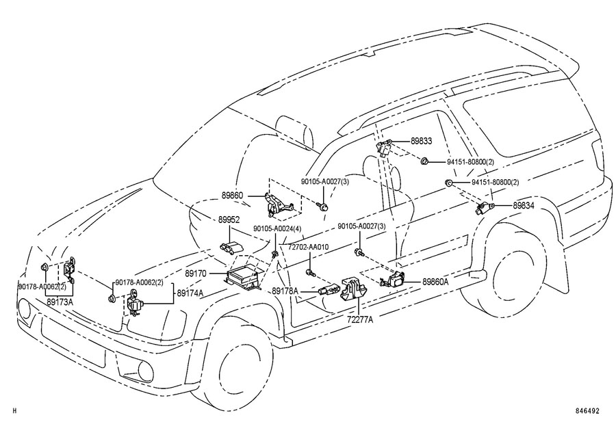 2004 Toyota Sequoia Power Steering Diagram