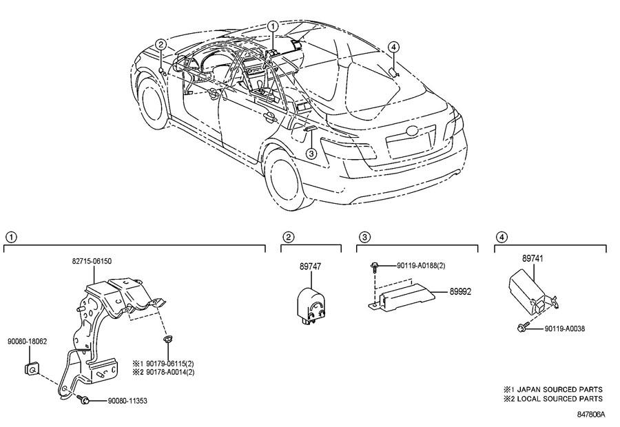 Toyota wireless door lock control receiver