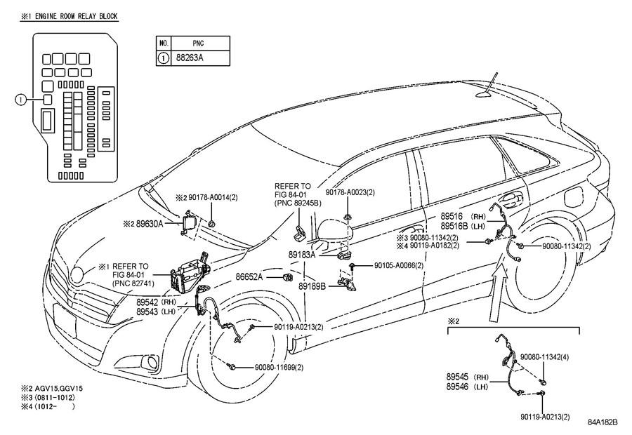 2004 Toyota Highlander Abs Sensor Diagram