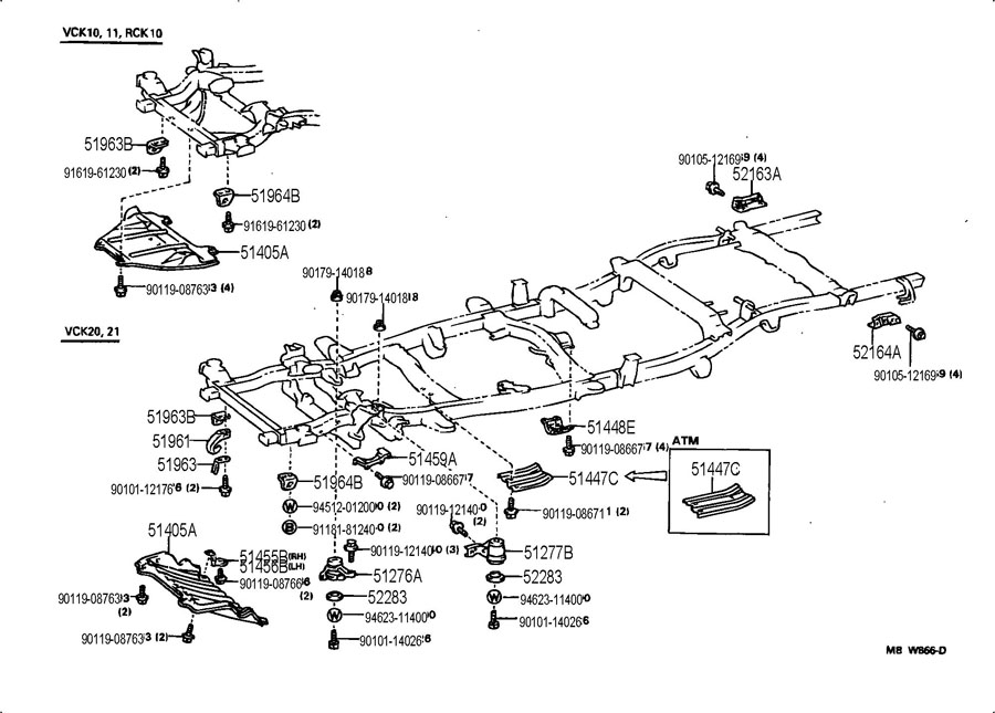 1995 Toyota T100 Wiring Diagram For Lighting Toyota T100