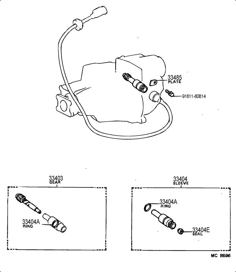 Toyota transmission speedometer gear