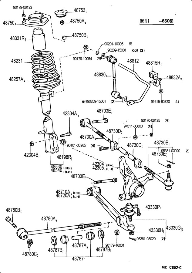 Toyota mr2 rear suspension