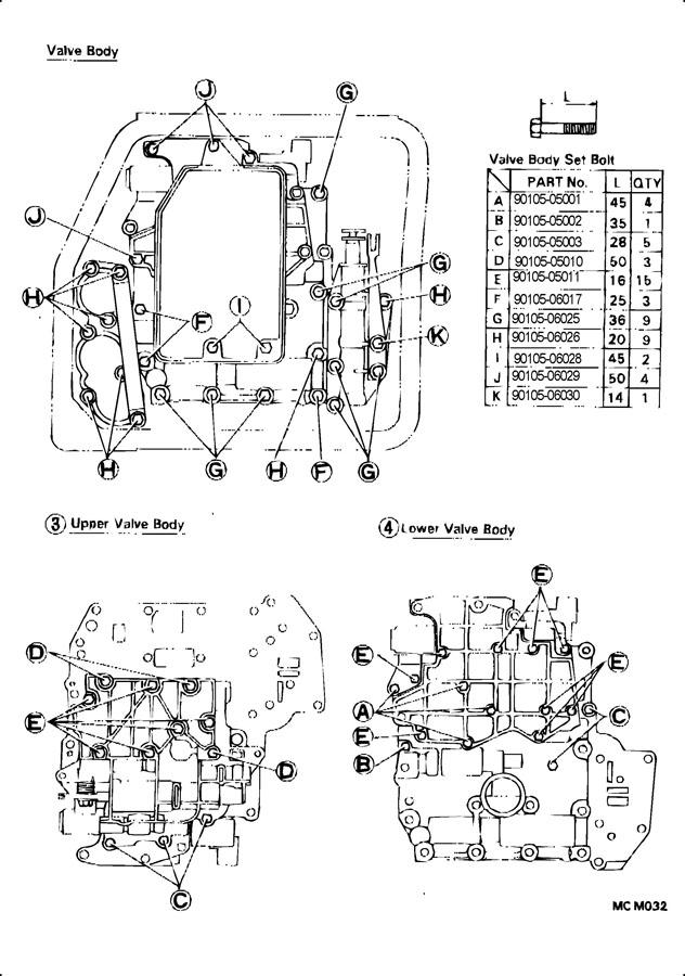 1995 Toyota valve body