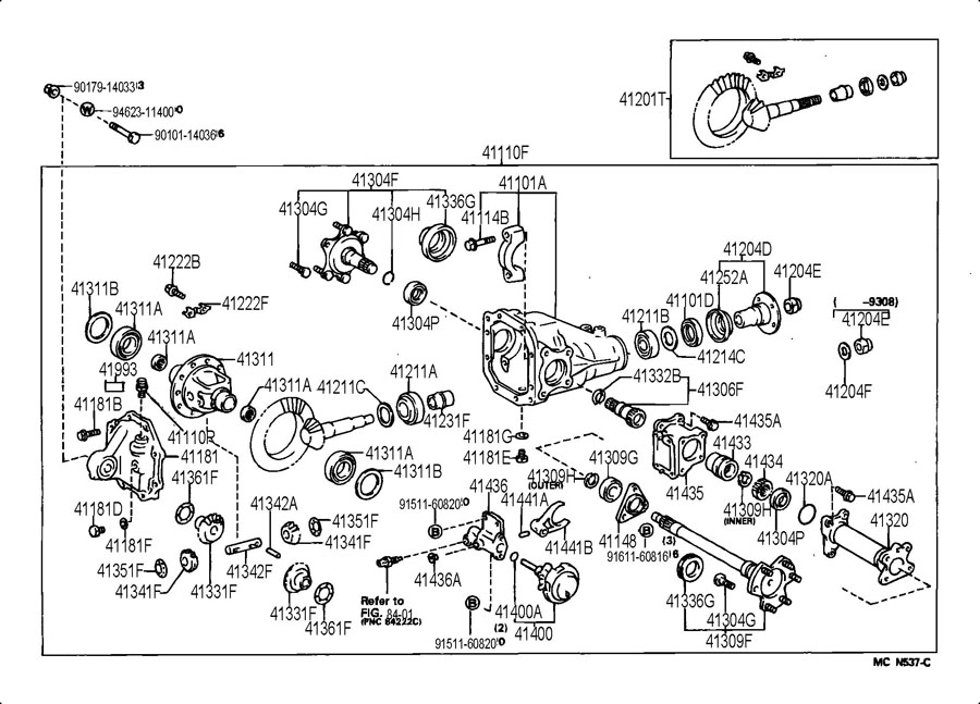 2001 Toyota Tundra Front Suspension Diagram, 2001, Free