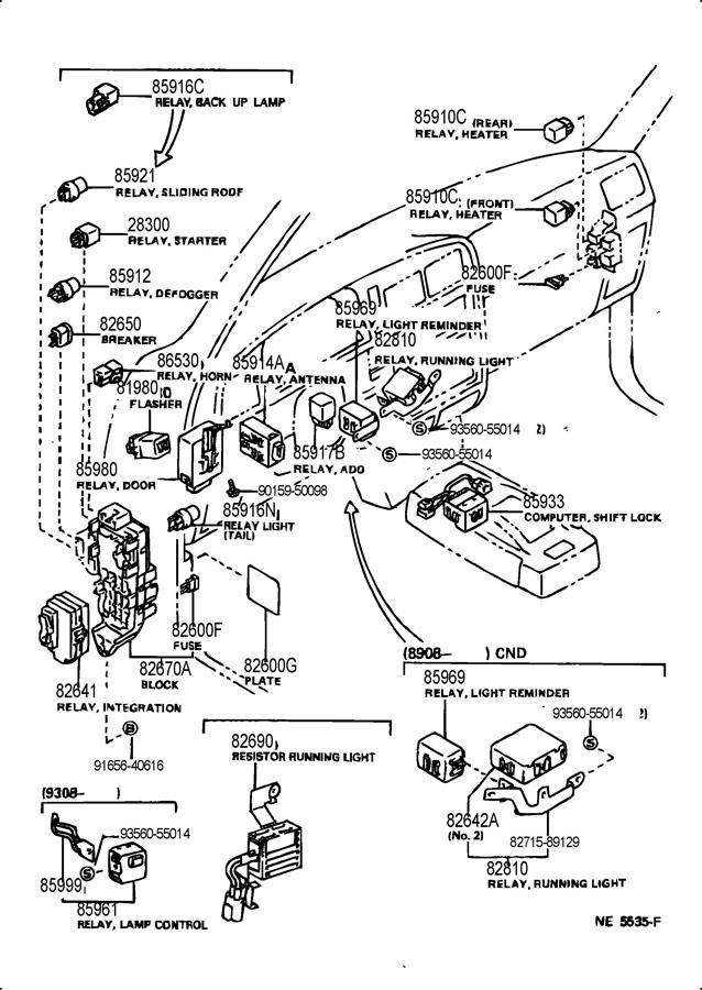 1995 Toyota 4runner power window relay