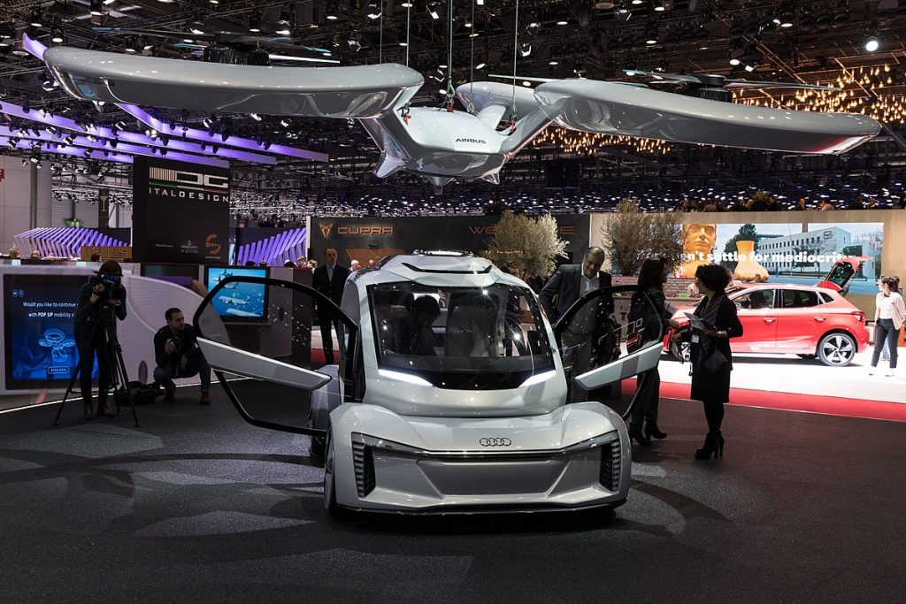 Audi_Pop.Up_Next,_GIMS_2018,_Le_Grand-Saconnex_ FLYING TAXIS FOR CITIES IN 2023
