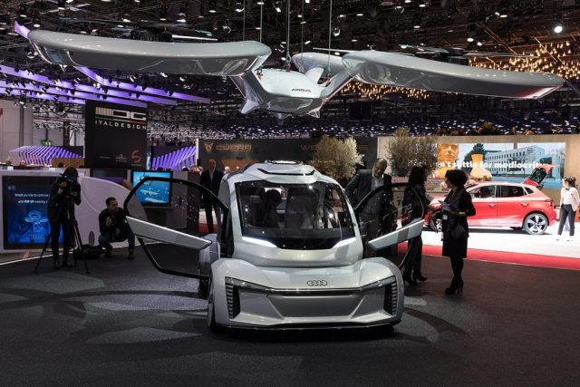 Audi_Pop.Up_Next,_GIMS_2018,_Le_Grand-Saconnex_ TAXIS VOLADORES PARA LAS CIUDADES EN EL 2023