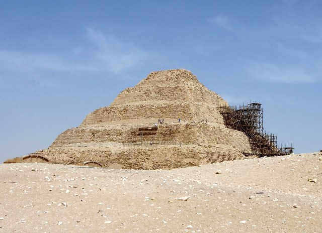 egypt mastaba sepulchral funerary structure egyptian desert ANOTHERTOMBOF MORE THAN 4,400 YEARSOPEN TO THE PUBLICIN THE NECROPOLIS OF SAQQARA
