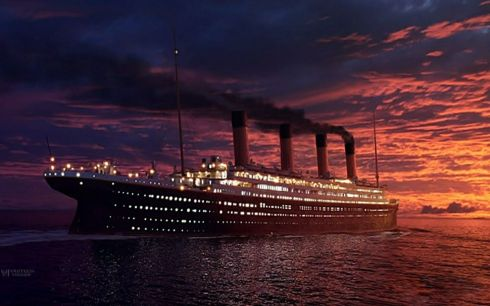titanic ship night