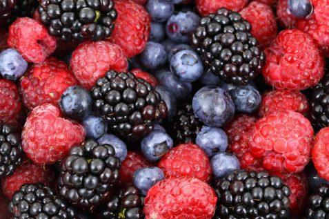 frutos rojos moras arándanos vitaminas saludable
