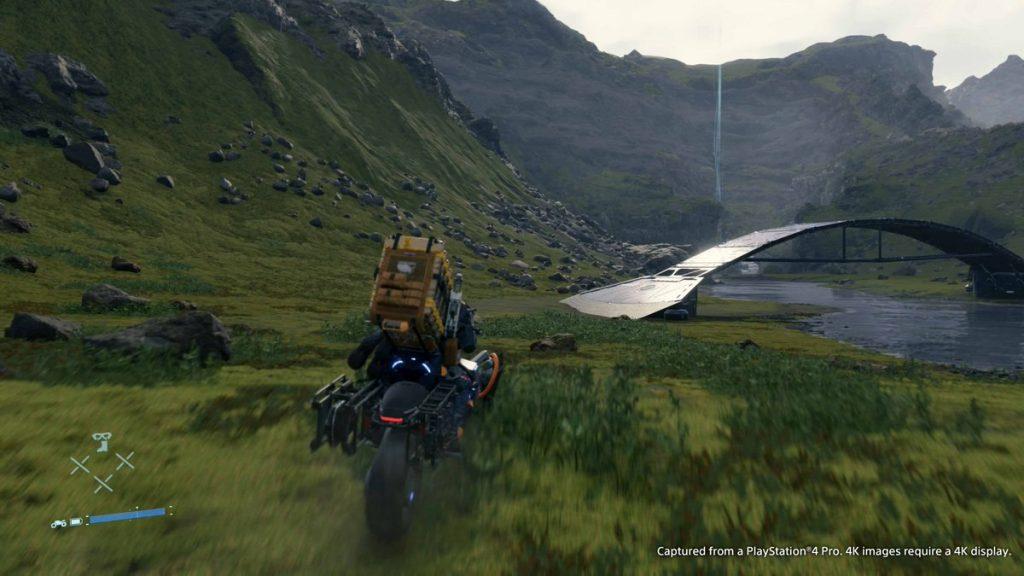 gameplay death stranding moto paesaggio