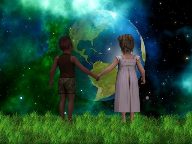 planet future children  SOS EARTH
