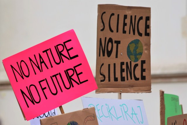 futuro manifestación protesta planeta cambio climático naturaleza SOS TIERRA