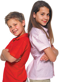kids back to back - Copyright – Stock Photo / Register Mark
