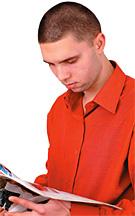 Start Them Off Right Guy Reading - Copyright – Stock Photo / Register Mark