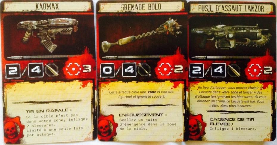 gears of war cartes armes