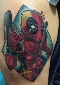 Jonatthan Hernandesz Tattoo best of tattoo geek peau deadpool marvel