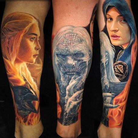 Carlos Rojas geek best of tattoo game of thrones GOT