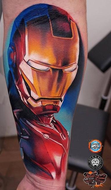 Rock'n'Roll Tattoo Edinburgh best of tattoo iron man