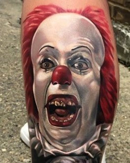 Jordan Baker best of tattoo it ca pennywise clown horror movie float