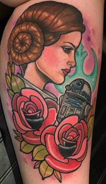 Cody Dresser best of tattoo star wars leia