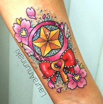Laura Anunnaki Best of Tattoo Sakura Card Captor manga tattoo geek