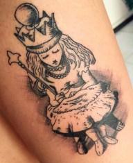Sergio Arturo Monjarás geek tattoo best of tattoo alice wonderland pays merveilles