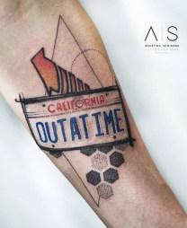 Agus Seminara geek dans la peau best of tattoo back to the future