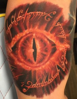 Lee Clements LOTR lord of the ring geek tattoo tag