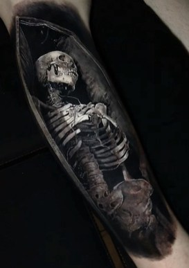 Eliot Kohek geek peau best tattoo realiste horror