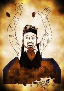 Captain Coffee Pirate YJ by Professor Jimmy Blue YJ